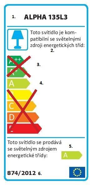 energetický štítek svítidlo alpha