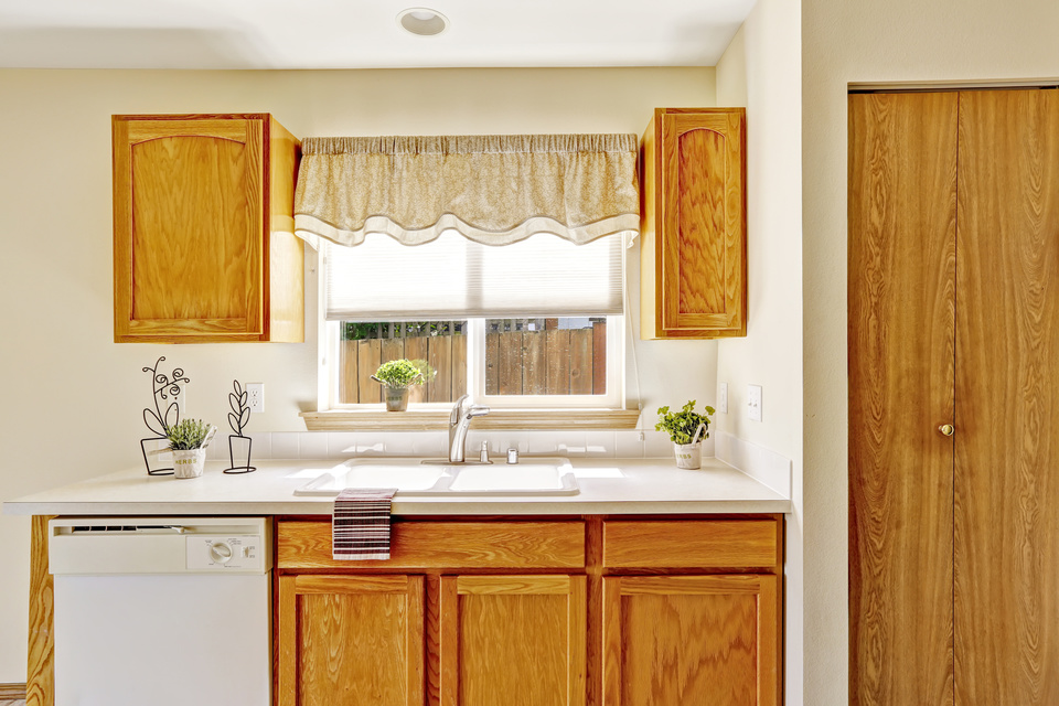 Kitchen furniture with window view